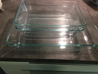 Clear glads bowls used  price can be negotiable for serious buyer