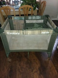 baby's green and gray Century travel cot Columbus, 43204