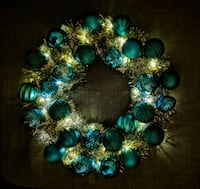 Ornament wreath with LED lights 36 km
