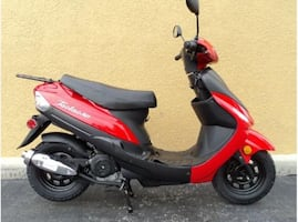 2010 red tao tao moped