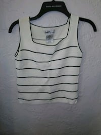 white and black striped tank top Pittsburgh, 15226