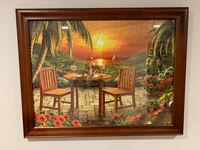 Puzzle picture in frame