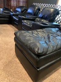 Black Leather Electric Movie Theater Seating