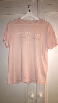 Women's pink scoop neck shirt, AEROPOSTALE London, W6