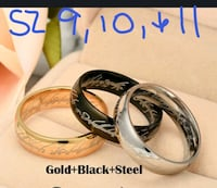 Lord of the Rings ring sz9-11  Powell, 37849