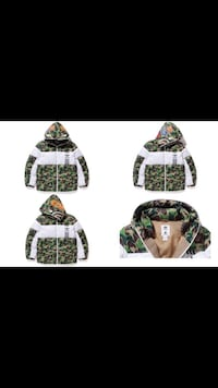 green and white camouflage jacket BAPE coat St Catharines, L2R 4J6