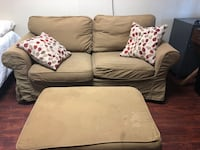 Loveseat and ottoman with storage Alexandria, 22314