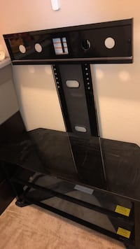 Black and gray  tv stand Porter, 77365