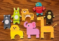 Interactive toys - wood animal puzzle pieces - &25