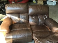 brown leather 2-seat recliner Antioch, 94509