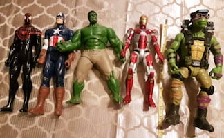 Large size action figures $25 for all five (Barrie)