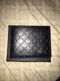 quilted black leather bi-fold wallet Lindsay, 93247