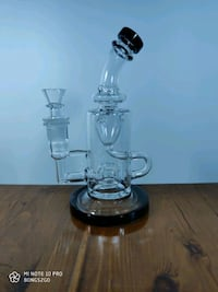 8 inch recycler with multi chamber and disc perc