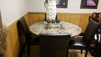 Leather chairs@ marble table....very nice Dayton, 45426