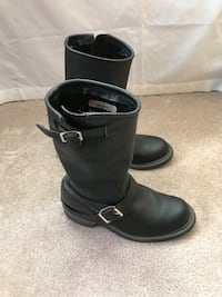 Pair of black leather boots Evergreen, 80439