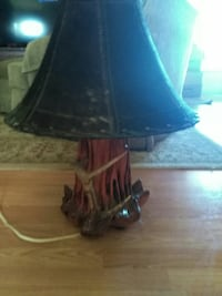 black and red table lamp Durant, 74701