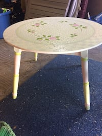 Childs hand painted floral wooden table Manalapan, 07726