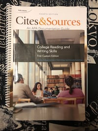 College reading and writing first edition textbook with cites and sources guide