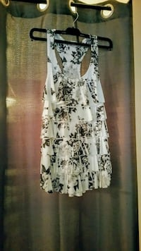 women's white and black floral print blouse