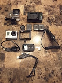 Gopro HERO 3+ with a few extra.
