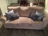 Gray suede 3-seat sofa Annandale, 22003