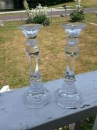 Full Lead Crystal Candlestick Holders  Springfield