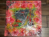 red, green, and black abstract painting Ajax, L1T 0G3