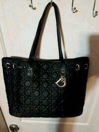 black leather Coach monogram tote bag Westbank, V4T 2W3