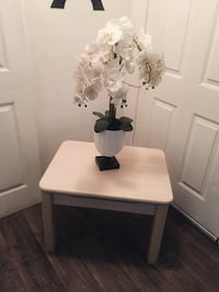 rectangular white wooden table with two chairs 775 mi