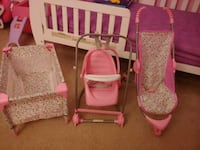 Baby Doll crib, stroller, and high chair/swing Odenton, 21113