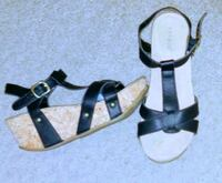 pair of black-and-brown sandals Marriott-Slaterville, 84404