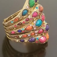 Multi Color Gem and Stone Cuff Bracelet Gainesville, 20155