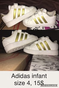 pair of white Adidas Superstar null, J0L