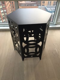 Crate and Barrel Side Table - Black New York, 10282