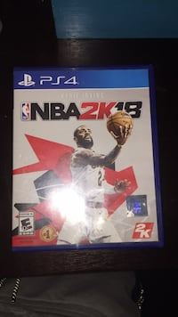 Sony PS4 NBA 2K18 game case Buena Park, 90621