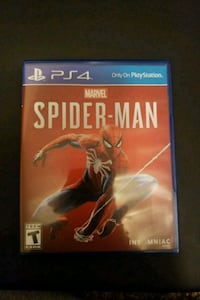 Spiderman PS4 console game New Braunfels, 78130