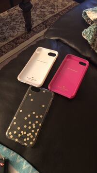Three assorted color iphone cases