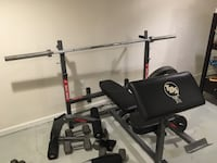 black and grey incline bench press