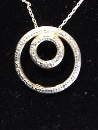 "925 Silver Necklace with intertwined circle in circle 16"" chain in circle Phoenix, 85028"