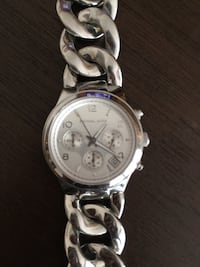 Michael kors silver chain watch