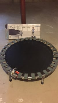 black and gray folding trampoline with box Weston, 06883