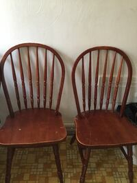 two brown wooden windsor chairs WASHINGTON