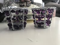 Purple bling candle holders