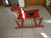 Vintage red and black wooden horse Apple Valley, 92307
