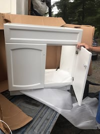 New 30 inch white vanity cabinet only  Aroda, 22709