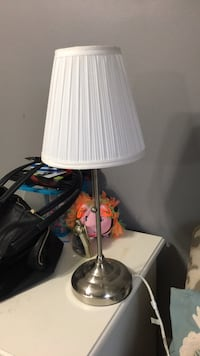 white and gray table lamp New York, 11374