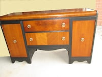 Refinished KRUG BROS. LTD Antique WALNUT Waterfall Sideboard~ Whitchurch-Stouffville