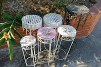 four white metal framed chairs San Leandro, 94578