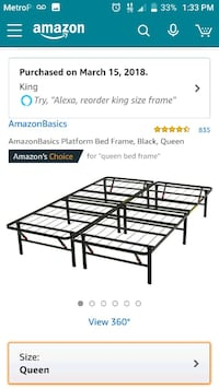black metal bed frame screenshot Gaithersburg, 20877
