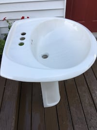 White ceramic sink currently sells for $58 at Lowes Cohoes, 12047